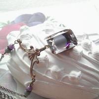 ヴィンテージ Purple/Grayギヴレ クラシカルネックレス