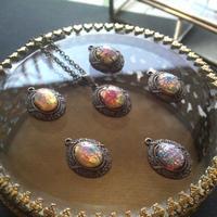 ヴィンテージ PinkOpal(8×6ミリ)Victorian調 ネックレス