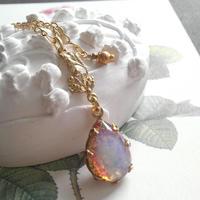 ヴィンテージ Fire-Opal Teardrop ネックレス