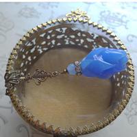 ヴィンテージ Royal-Blue Flower(long)ミディアムロングネックレス