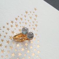 ヴィンテージ Moon&Star/スワロフスキー イヤリング