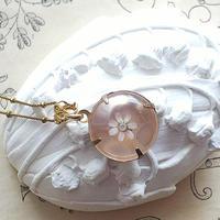 ヴィンテージ 淡Rozalin-flower/Lucite(18㎜) ネックレス