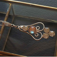 Antiqueサフィレット(6mm/縁装飾)SilverーMetal/Silver925ネックレス