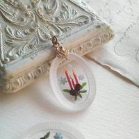 ヴィンテージ クリスマスCandle/雪の結晶 ネックレス(GoldまたはSilver)