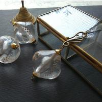 ヴィンテージ Dots-Trim/Clear- Lucite ロングネックレス