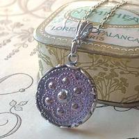 ヴィンテージ Lilac・Silver-flower (2)  ネックレス