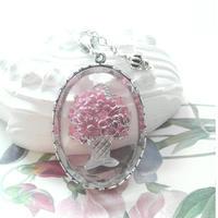 ヴィンテージ Rose花かごインタリオ ネックレス