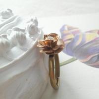 ヴィンテージ 薔薇/ミリアムハスケル 指輪(フリーサイズ)