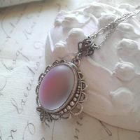 ヴィンテージ 藤色Vitrail/グラデーション ネックレス(Silver)