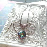 ヴィンテージ Rainbow-Square(10ミリ)ネックレス