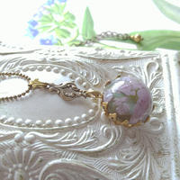 Antique ドラゴンズブレスOpal/like Saphiret(17ミリ)flowerネックレス