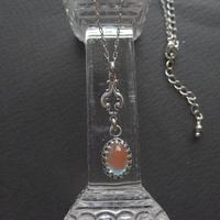 Antiqueサフィレット(10×7ミリ)AntiaueSilver/ArtNouveau ネックレス