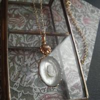 ヴィンテージ ladyカメオ/Mirror・装飾 ネックレス