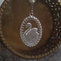ヴィンテージ 白鳥のインタリオ ネックレス(Silver)
