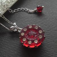ヴィンテージ Roman-Knight/Ruby rhinestones ネックレス
