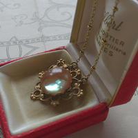 サフィレット Green(15ミリRound)Triangleネックレス