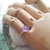 ヴィンテージ Sapphire/パープル薔薇 指輪