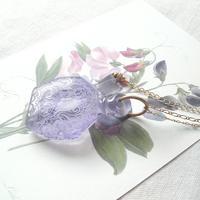ヴィンテージ Soft-purple香水瓶 ネックレス
