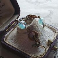 ヴィンテージ Turquoise-Givre(6㎜)Art Nouveau ピアスまたはイヤリング
