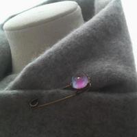 ヴィンテージ Sapphire/パープル薔薇ブローチ