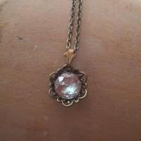 サフィレット フィリグリー/fleur-de-lis 金古美ネックレス