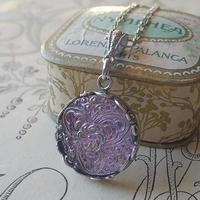 ヴィンテージ Lilac・Silver-flower (1)  ネックレス