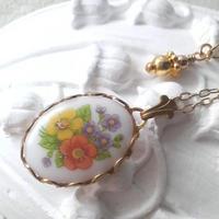 再販ヴィンテージ 小花のBouquet クラシカルネックレス