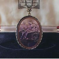 ヴィンテージ Venus & cupid (Amethyst)/真鍮古美カラー インタリオネックレス