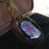 ヴィンテージ Frost-PurpleGivre-Lady/Rose ネックレス