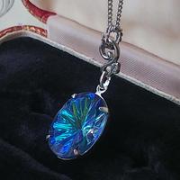 ヴィンテージ Bermuda Blue/ Prism-Star Silverカラーネックレス