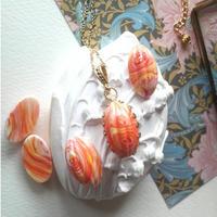 ヴィンテージ Marble(White,Yellow,Orange)ネックレス