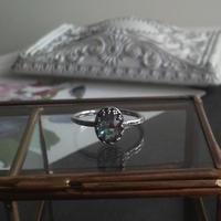 アンティークサフィレット Silver925製指輪(フリーサイズ)