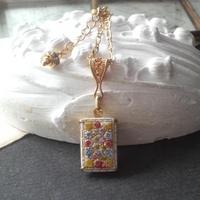 アンティーク flower/Gold Rectangleレックレス