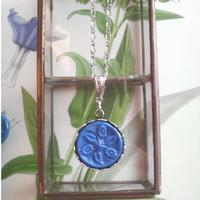 アンティーク Blueアシード-Flower ネックレス