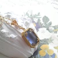ヴィンテージ Frost-Blueフィリグリー ネックレス