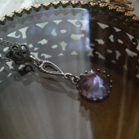 アンティークサフィレットレアPointed Antique-Silverネックレス
