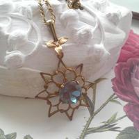 サフィレット(Deep Blue)/Snowflake スミレ クラシカルネックレス
