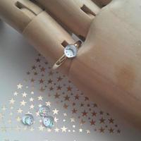 ヴィンテージ Moon&Star/スワロフスキー 指輪