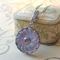 ヴィンテージ Lilac・Silver-flower (3)  ネックレス