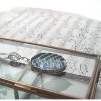 ヴィンテージ Aurora-Wave 花葉クラシカルネックレス
