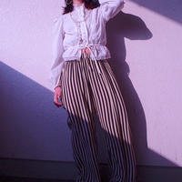 Rétro Stripe Rayon Easy Pants