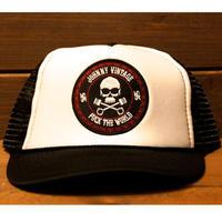 JOHNNY MESH CAP【BLK/WHT】ROUND VISOR