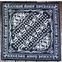 JOHNNY BANDANA【BLACK/WHITE】