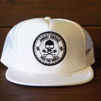 JOHNNY MESH CAP 【WHITE/CHOP】  サークルワッペン