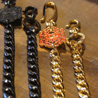 JOHNNY WALLET CHAIN 【GOLD×RED】