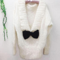 Ribbon mohair knit