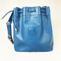 CELINE セリーヌ 巾着バッグ セミショルダー ブラゾン ブルー vintage ヴィンテージ