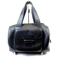 CELINE セリーヌ ロゴ型押し ミニボストン ボストンバッグ ブラック vintage ヴィンテージ