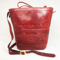 FENDI フェンディ ショルダーバッグ バケツ型 巾着 ギリシャモチーフ レッド ワイン ボルドー vintage ヴィンテージ