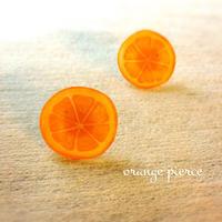 ジューシー♪オレンジのピアス・イヤリング